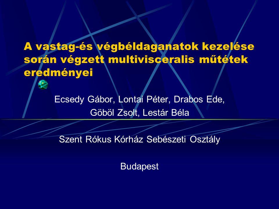 A vastag-és végbéldaganatok növekvő előfordulása A colorectalis daganatok és rákelőző állapotok gyakorisága Magyarországon is jelentős emelkedést mutat.