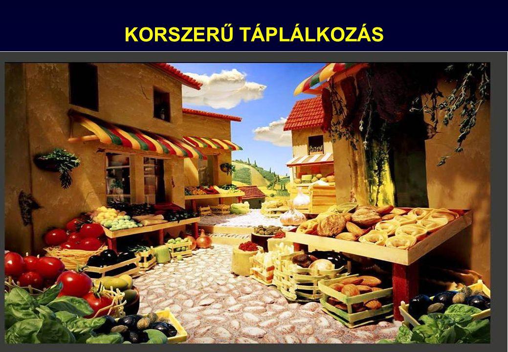KORSZERŰ TÁPLÁLKOZÁS