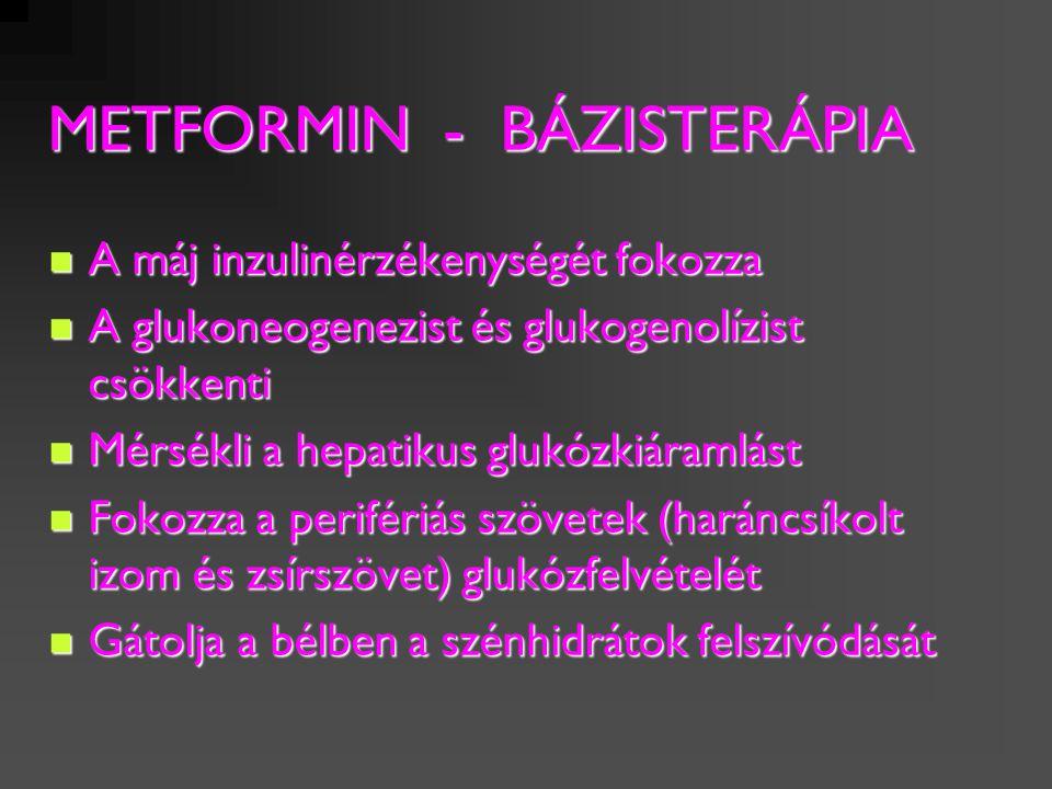 A diagnózis időpontjában: Életmód-terápia + metformin I.