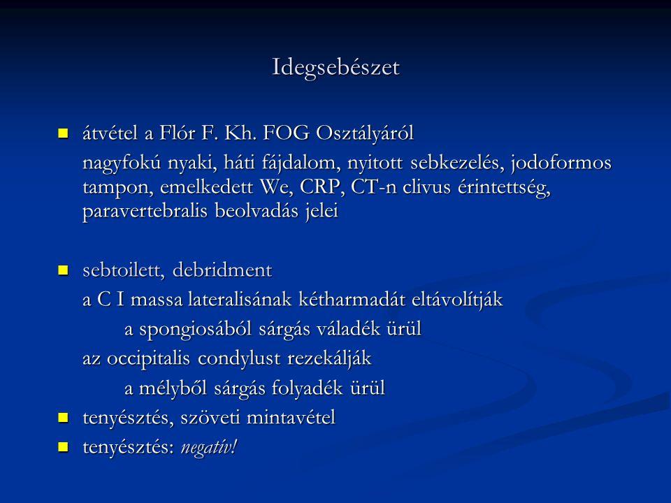 Idegsebészet átvétel a Flór F.Kh. FOG Osztályáról átvétel a Flór F.