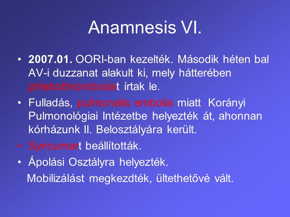 Rehabilitációs kezelés I.Ismételt rehab. cons. után 2007.03.
