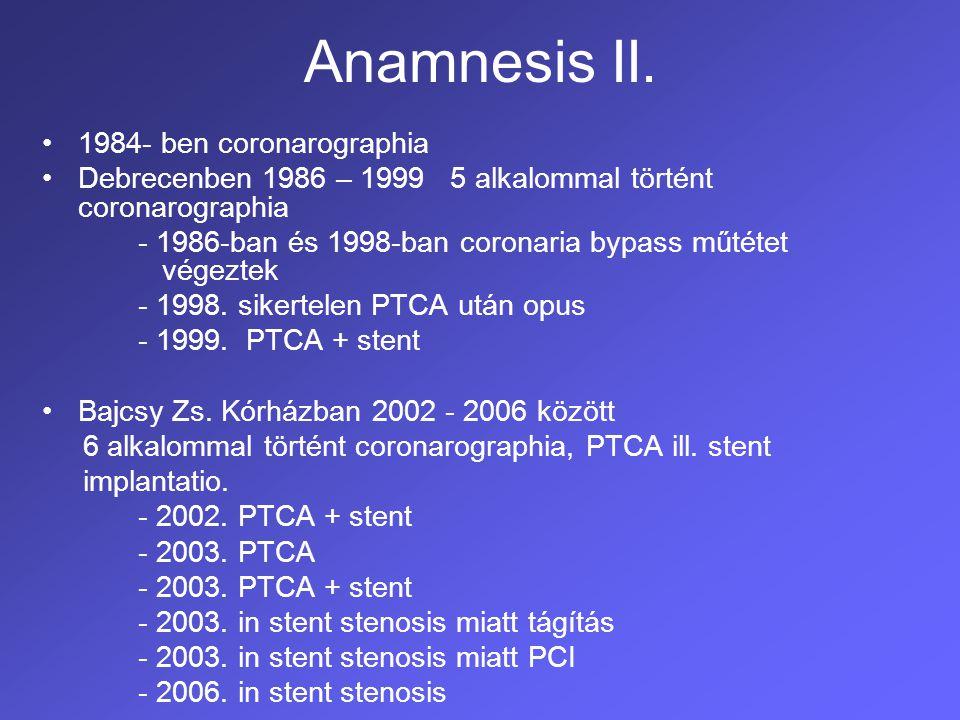 Anamnesis III.