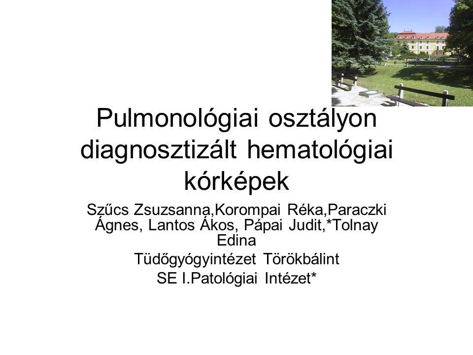 1.eset V.Gy.-né 76 éves nő Anamnézis: 1950 körül tbc.pulm.