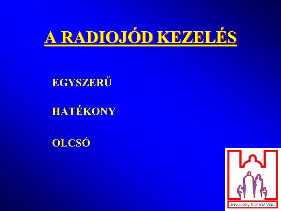 A RADIOJÓD KEZELÉS EGYSZERŰ HATÉKONY OLCSÓ