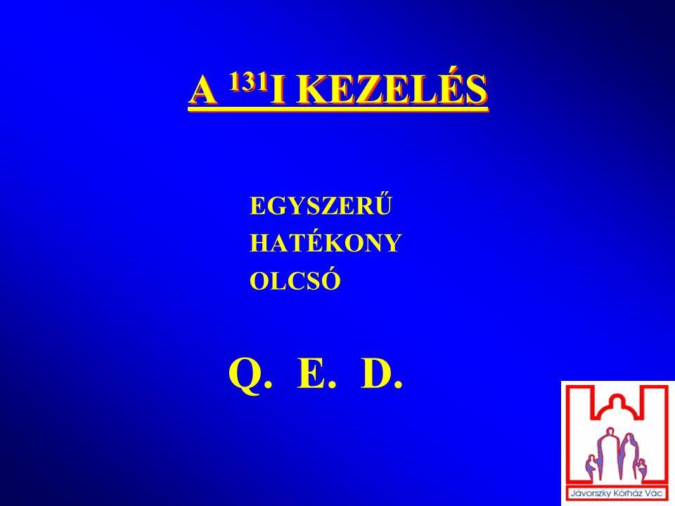 A 131 I KEZELÉS EGYSZERŰ HATÉKONY OLCSÓ Q. E. D.