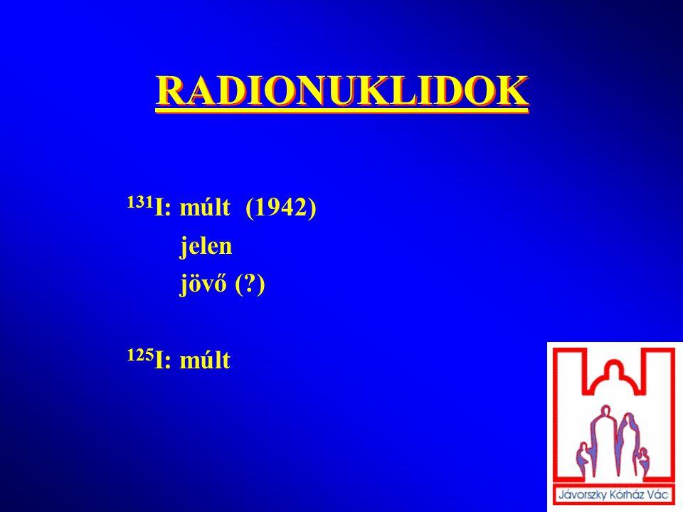 RADIONUKLIDOK 131 I: múlt (1942) jelen jövő (?) 125 I: múlt
