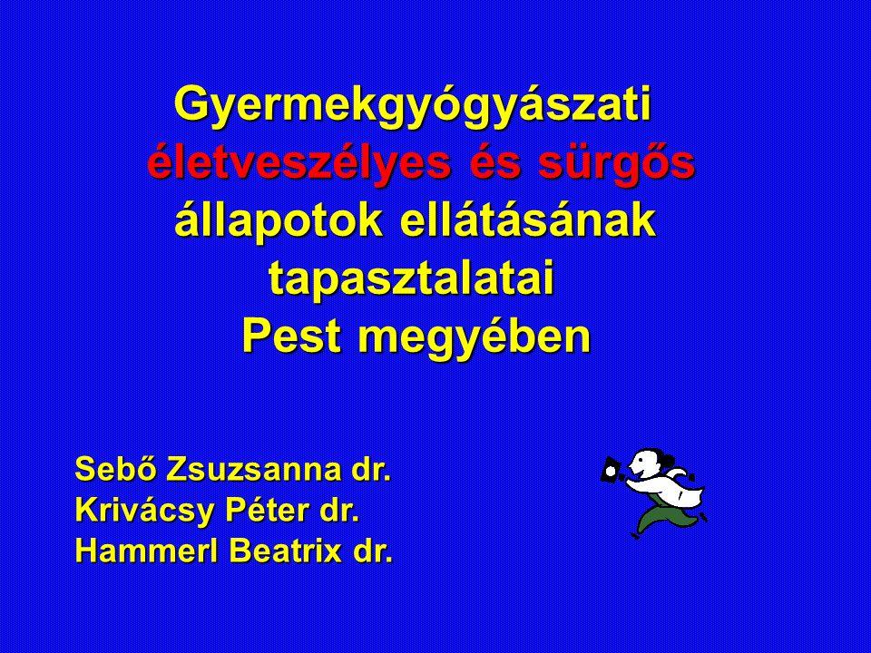 Sebő Zsuzsanna dr. Krivácsy Péter dr. Hammerl Beatrix dr. Gyermekgyógyászati életveszélyes és sürgős életveszélyes és sürgős állapotok ellátásának áll