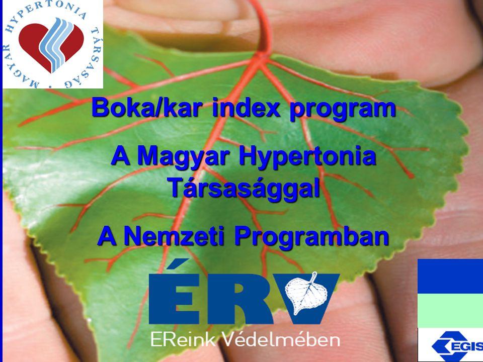 Boka/kar index program A Magyar Hypertonia Társasággal A Nemzeti Programban