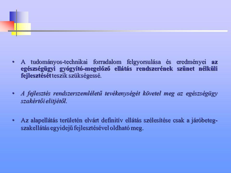 A JÁRÓBETEG SZAKELLÁTÁS JÖVŐKÉPE DR. SZABADFALVI ANDRÁS TORMAY KÁROLY EGÉSZSÉGÜGYI KÖZPONT GÖDÖLLŐ