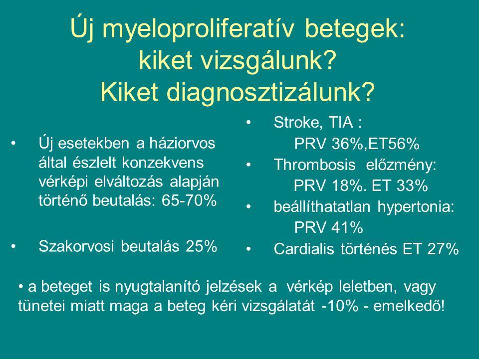 Új myeloproliferatív betegek: kiket vizsgálunk? Kiket diagnosztizálunk? Új esetekben a háziorvos által észlelt konzekvens vérképi elváltozás alapján t