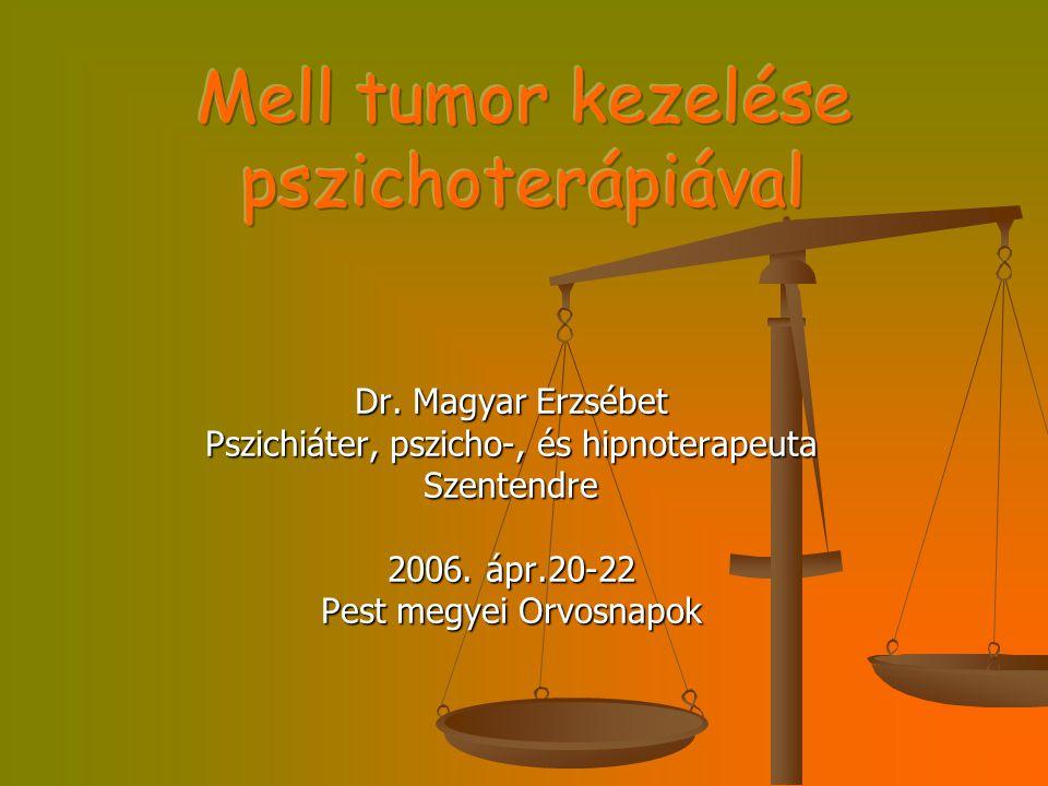 Dr. Magyar Erzsébet Pszichiáter, pszicho-, és hipnoterapeuta Szentendre 2006. ápr.20-22 Pest megyei Orvosnapok