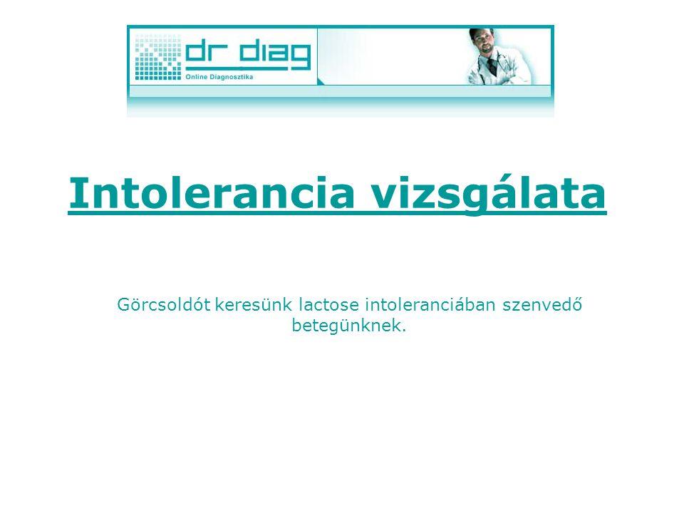 Intolerancia vizsgálata A DrDiag rendszer a gyógyszer kereséseknél az allergia vizsgálat mellett az intoleranciát is tudja vizsgálni. Mindkét vizsgála