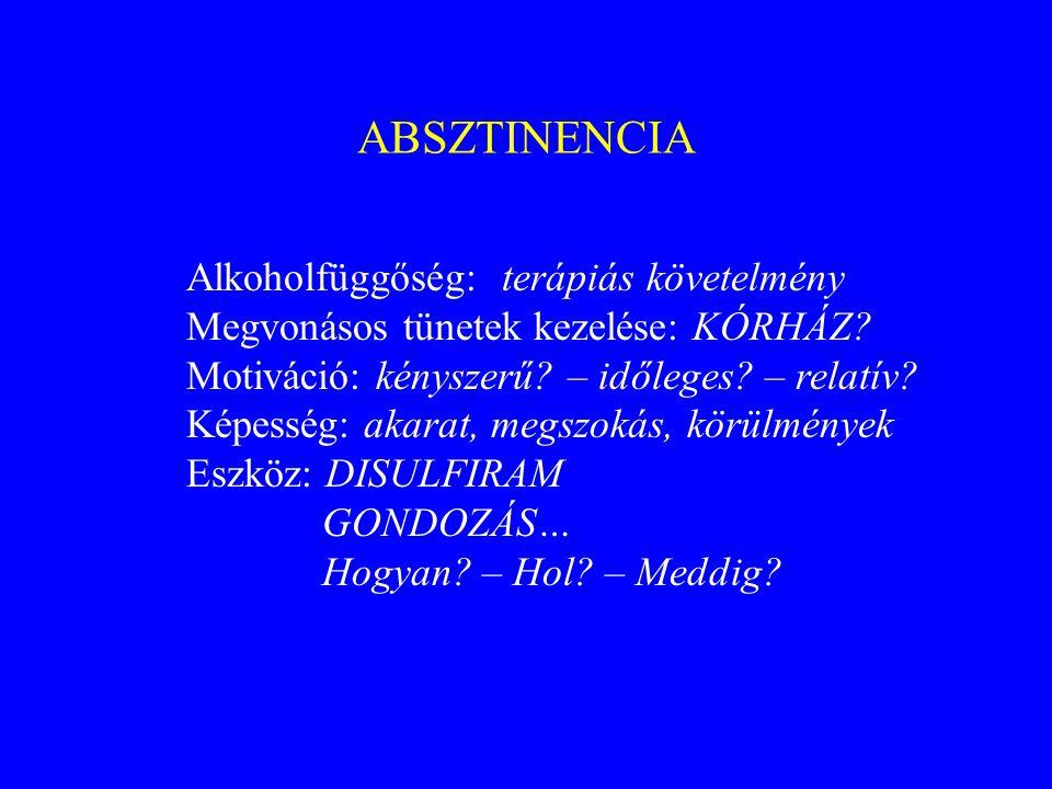 DISULFIRAM Tbl.Antaetyl, Antabus, Esperal (per os) Disulfiram inpl.