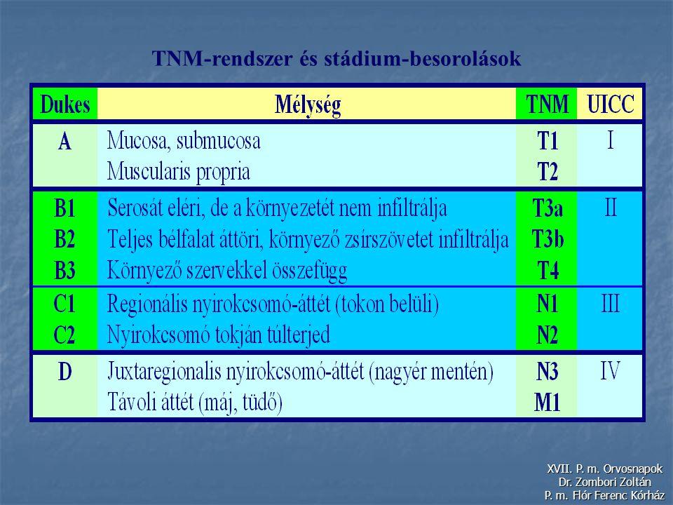 TNM-rendszer és stádium-besorolások XVII. P. m. Orvosnapok Dr. Zombori Zoltán P. m. Flór Ferenc Kórház