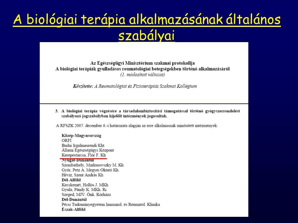 A biológiai terápia alkalmazásának általános szabályai