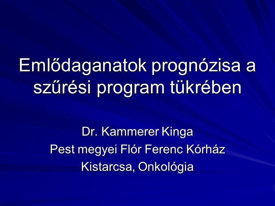 Emlődaganatok prognózisa a szűrési program tükrében Dr.