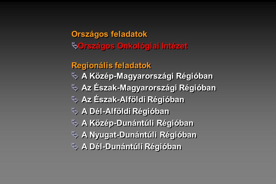  A Közép-Magyarországi Régióban  Az Észak-Magyarországi Régióban  Az Észak-Alföldi Régióban  A Dél-Alföldi Régióban  A Közép-Dunántúli Régióban 