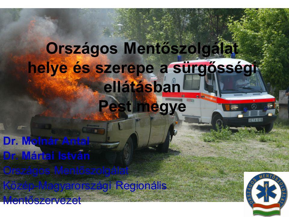 Országos Mentőszolgálat helye és szerepe a sürgősségi ellátásban Pest megye Dr. Molnár Antal Dr. Mártai István Országos Mentőszolgálat Közép-Magyarors