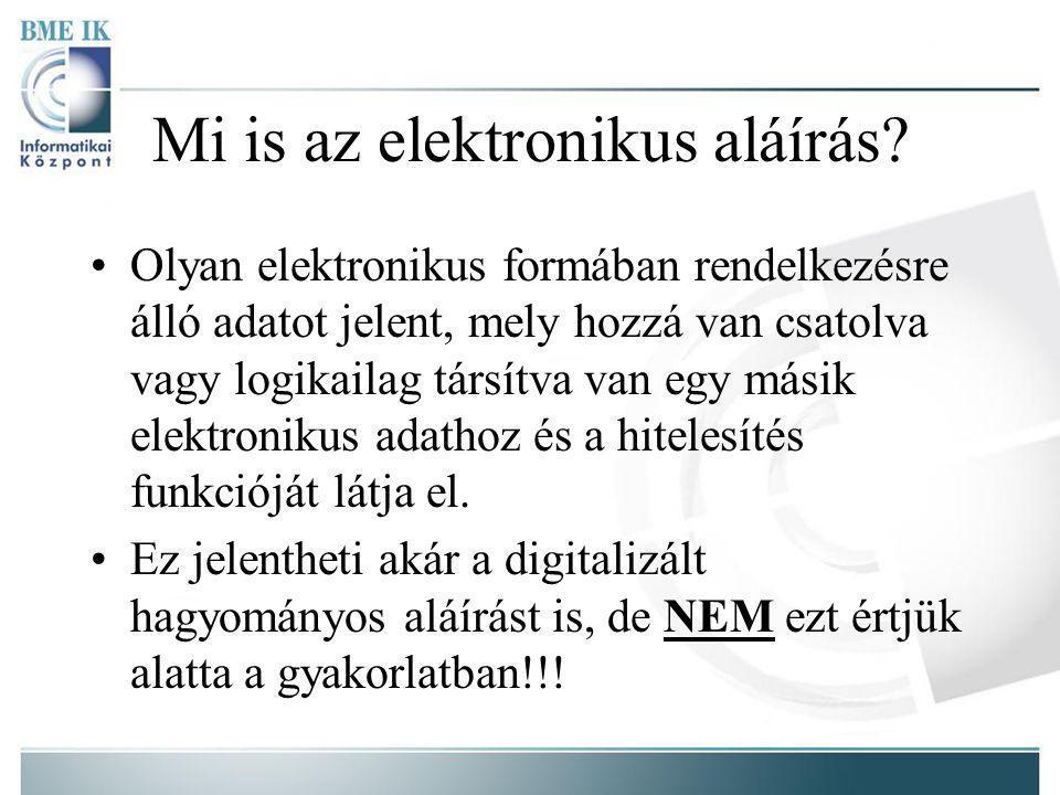 Mi is az elektronikus aláírás.