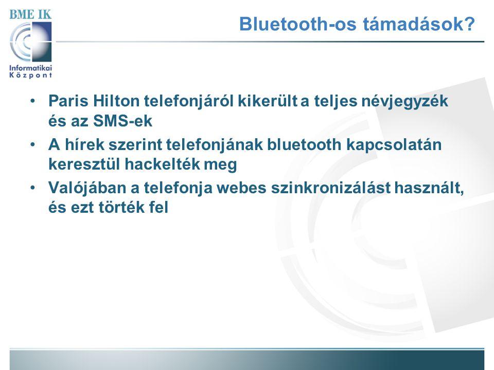 Bluetooth-os támadások? Paris Hilton telefonjáról kikerült a teljes névjegyzék és az SMS-ek A hírek szerint telefonjának bluetooth kapcsolatán kereszt