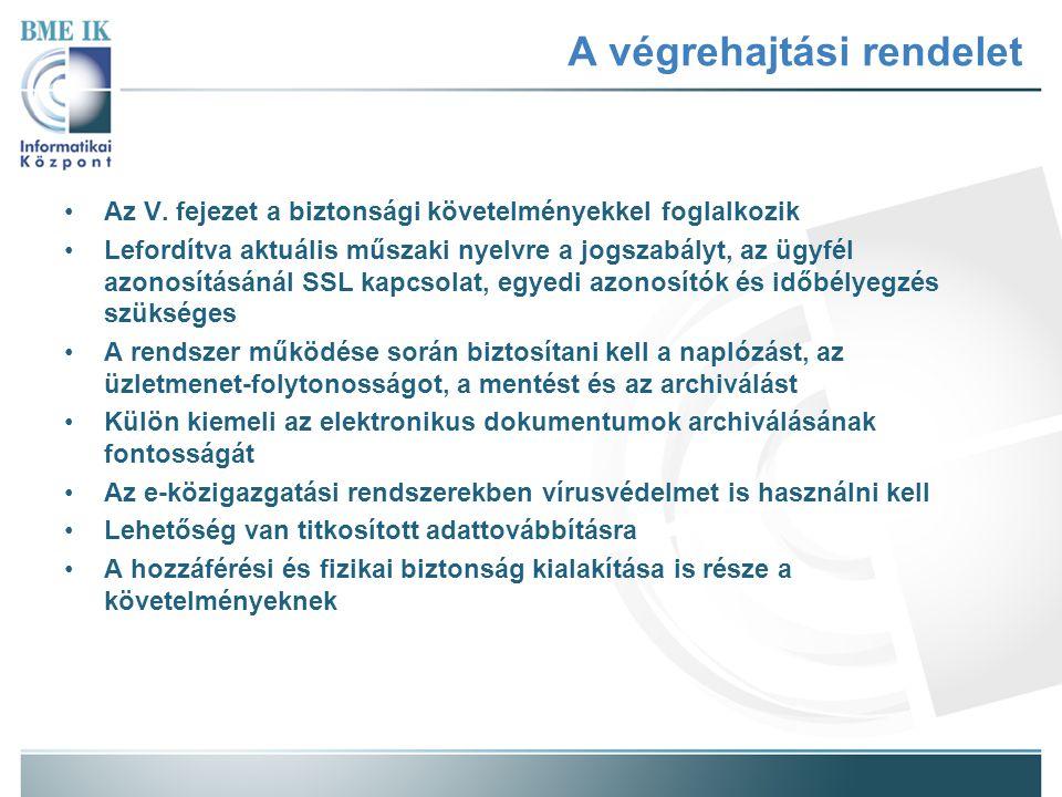 A végrehajtási rendelet A VI.