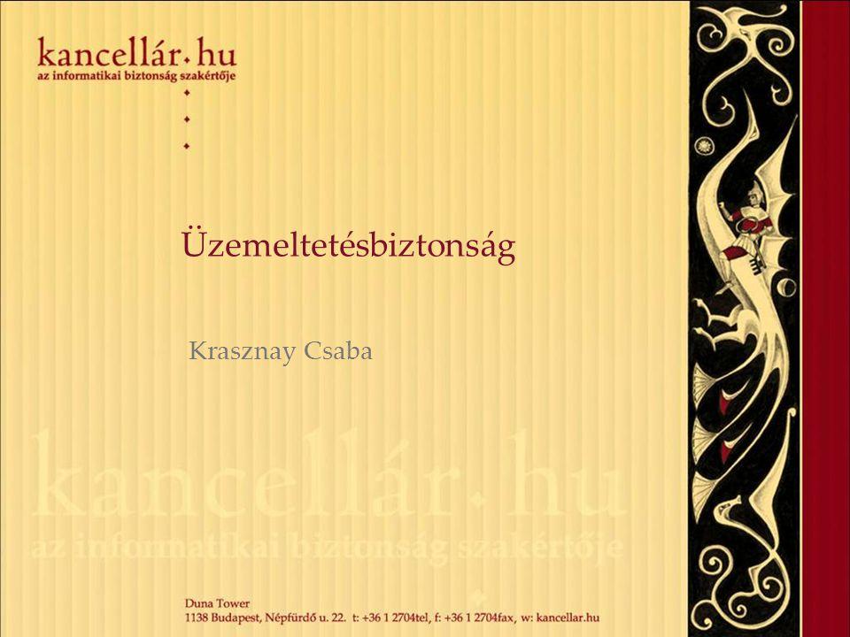 Üzemeltetésbiztonság Krasznay Csaba