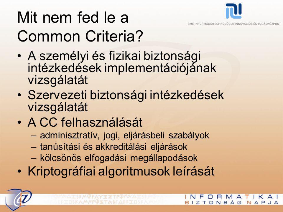 Mit nem fed le a Common Criteria? A személyi és fizikai biztonsági intézkedések implementációjának vizsgálatát Szervezeti biztonsági intézkedések vizs