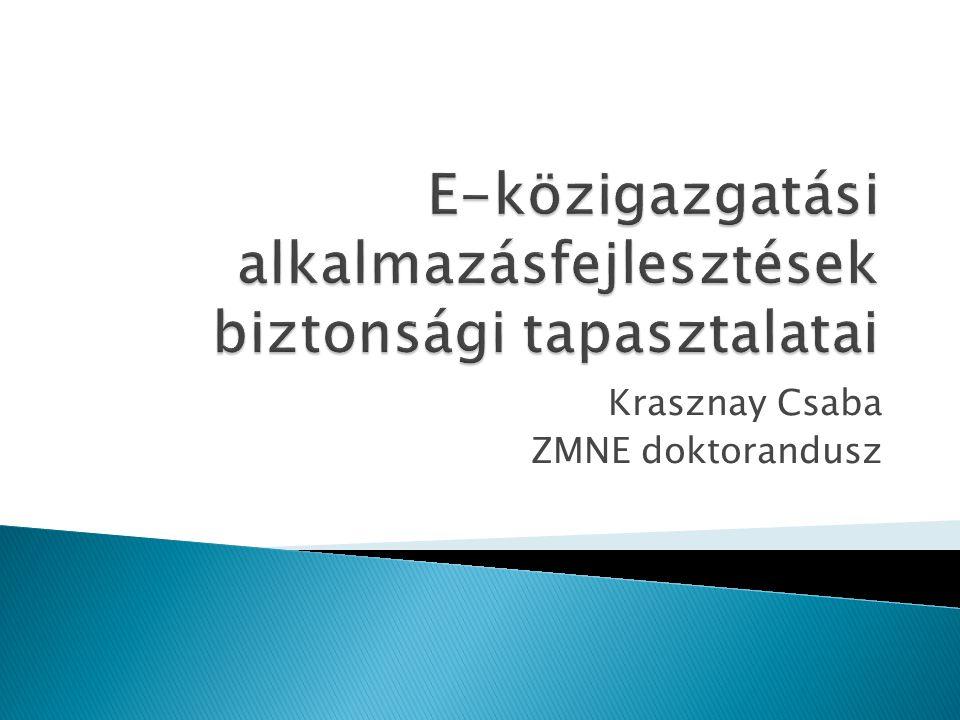 Krasznay Csaba ZMNE doktorandusz