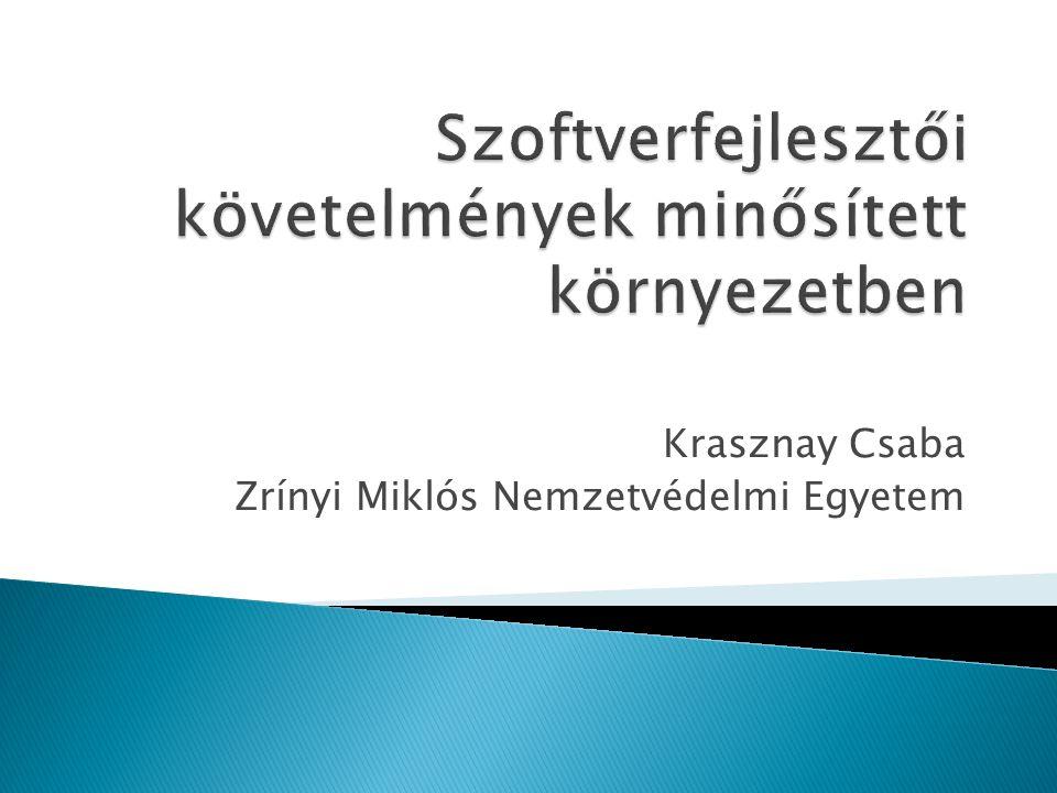 Krasznay Csaba Zrínyi Miklós Nemzetvédelmi Egyetem