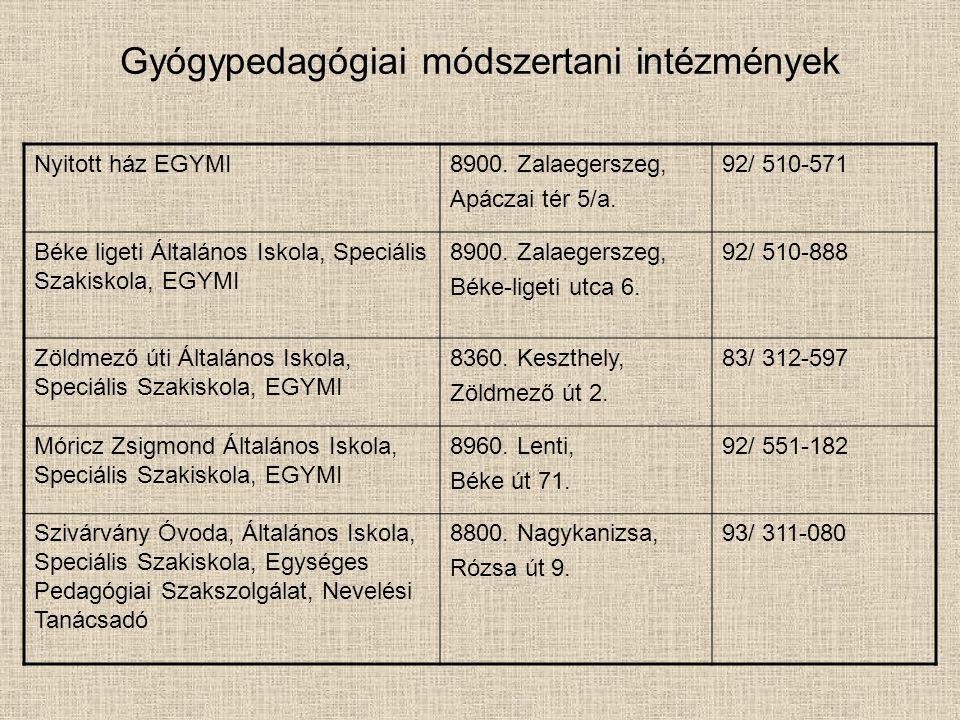 Gyógypedagógiai módszertani intézmények Nyitott ház EGYMI8900.