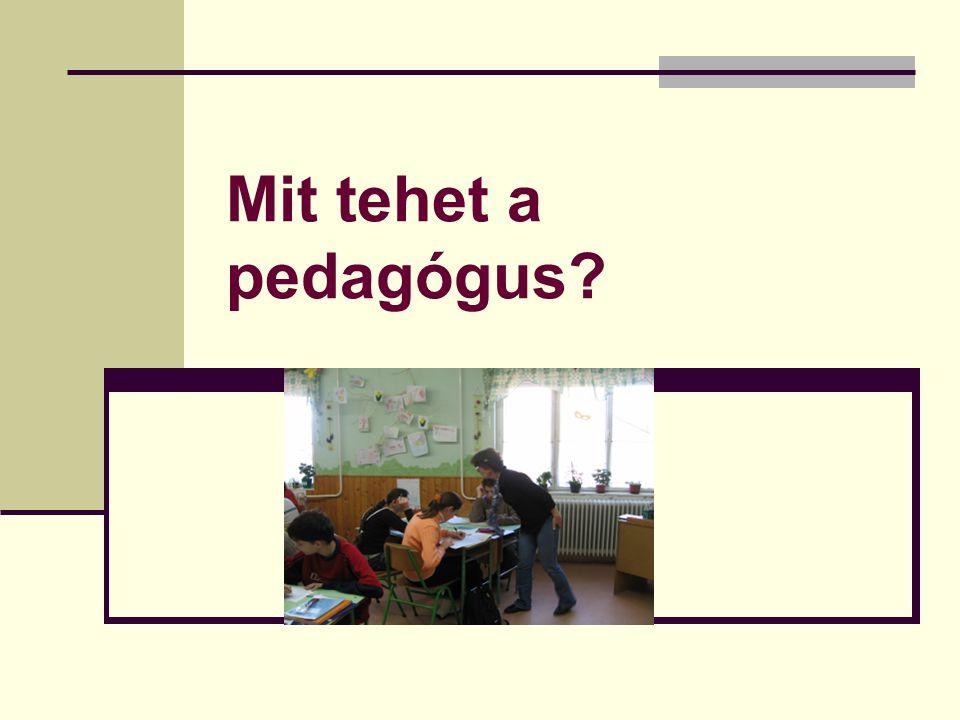 Mit tehet a pedagógus?