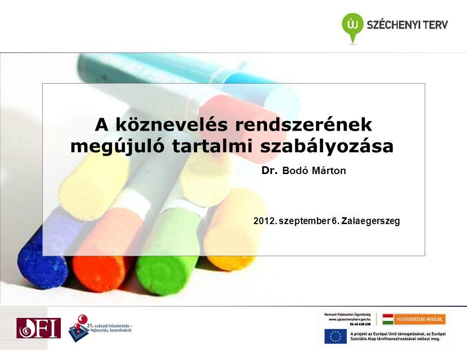 Oktatásirányítási eszközök  Törvényi szabályozás (Nemzeti köznevelési törvény);  Folyamatszabályozás - tartalmi szabályozási dokumentumok (NAT, kerettantervek) érvényesítése;  Tanárképzés;  Tanártovábbképzés;  Országos pedagógiai-szakmai ellenőrzés rendszere;  Hazai és nemzetközi tanulói teljesítménymérések rendszere,  Kutatás – visszajelzés – korrekció;  Kimeneti szabályozás (érettségi vizsga)