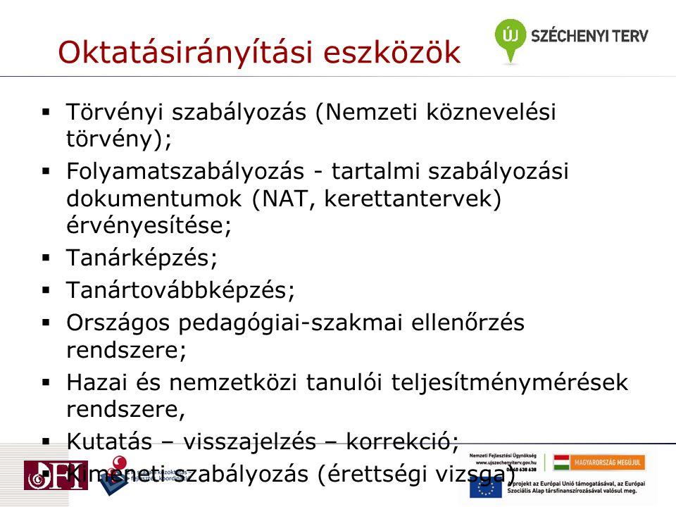 Az iskolák körvonalazódó feladatai  A kerettanterv adaptációja 2012.