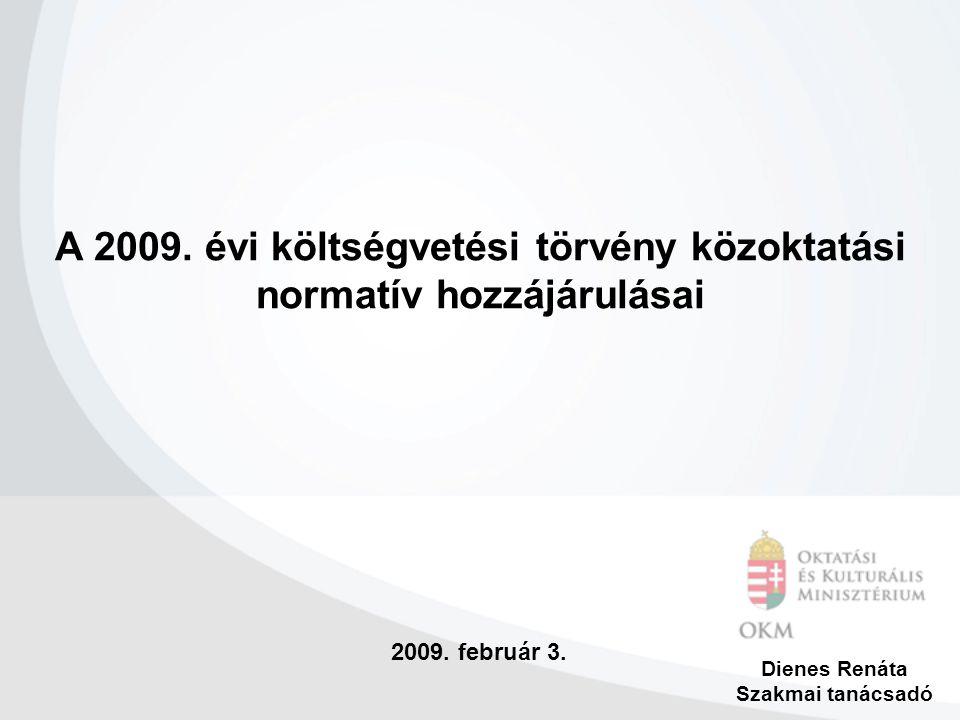 2009.február 3. Dienes Renáta Szakmai tanácsadó A 2009.