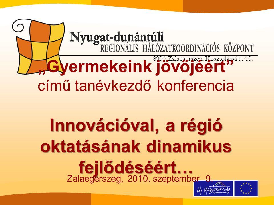 8900 Zalaegerszeg, Kosztolányi u.10. Tóth Edit projektmenedzser Köszönöm megtisztelő figyelmüket.