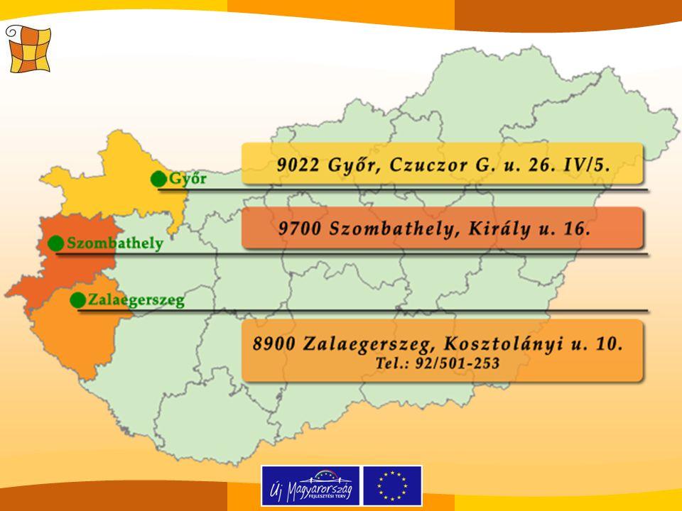 Elérhetőségeink www.zalai-oktatas.hu info.tamop322@gmail.com Zalaegerszegi projektiroda 8900 Zalaegerszeg,Kosztolányi u.
