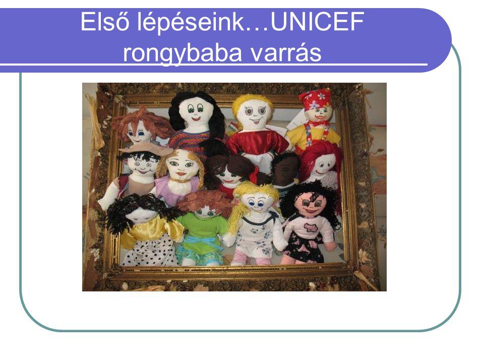 Első lépéseink…UNICEF rongybaba varrás