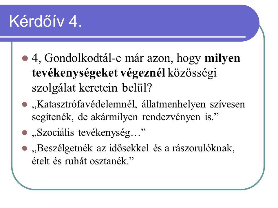 Kérdőív 4.