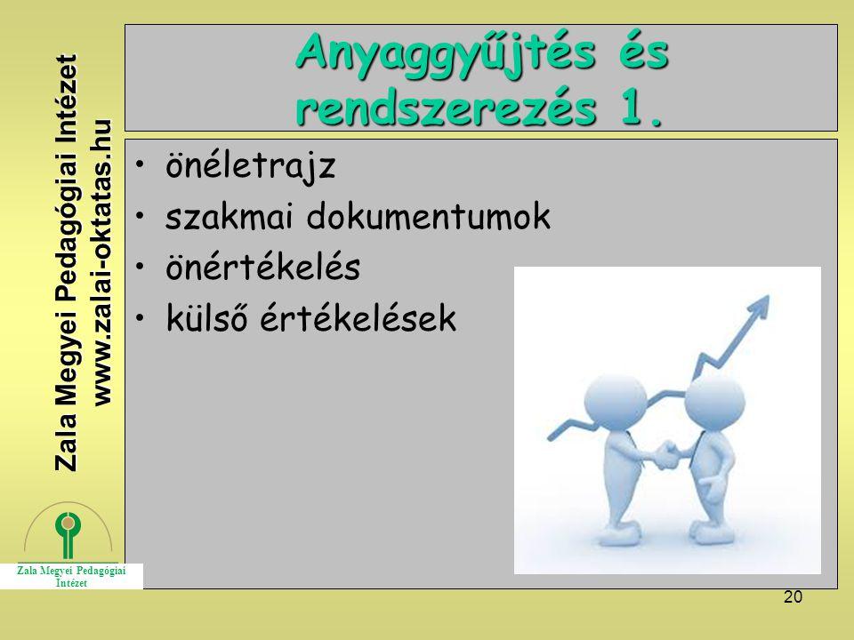 20 Anyaggyűjtés és rendszerezés 1.