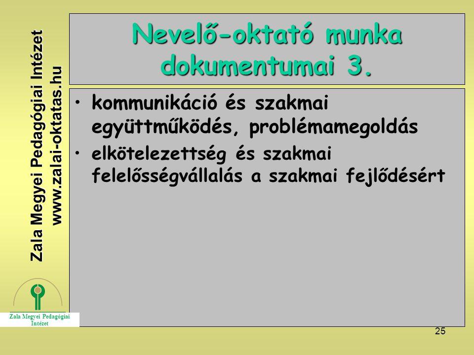25 Nevelő-oktató munka dokumentumai 3.