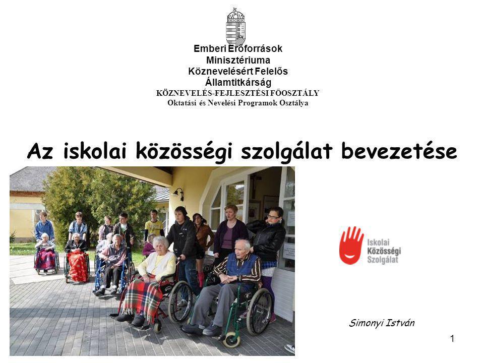 2 Iskolai Közösségi Szolgálat= (Kötelező) Önkéntes munka