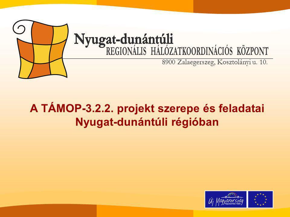 8900 Zalaegerszeg, Kosztolányi u. 10. A TÁMOP-3.2.2.