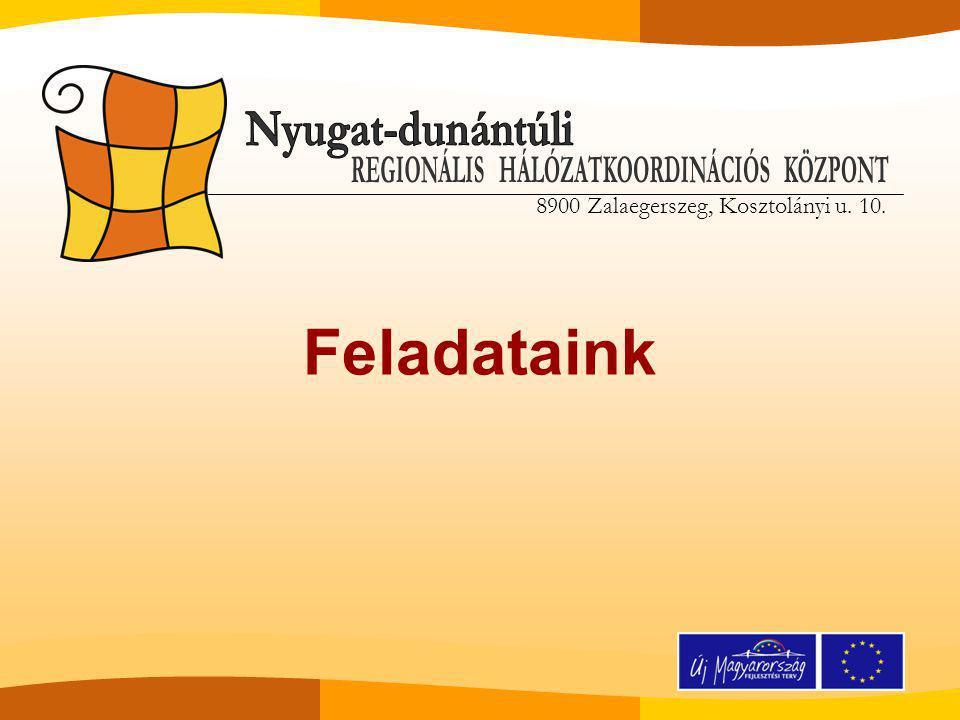 Referencia intézmények szakmai támogatása szakmai műhelyek rendezése rendszeres kapcsolattartás kialakítása monitoring és minőségbiztosítás ( új kollégák ) referencia intézmények és szolgáltatásaik részletes bemutatása a régióban működő közoktatási intézmények számára (kiadvány, honlap, konferencia, tájékoztató rendezvények )