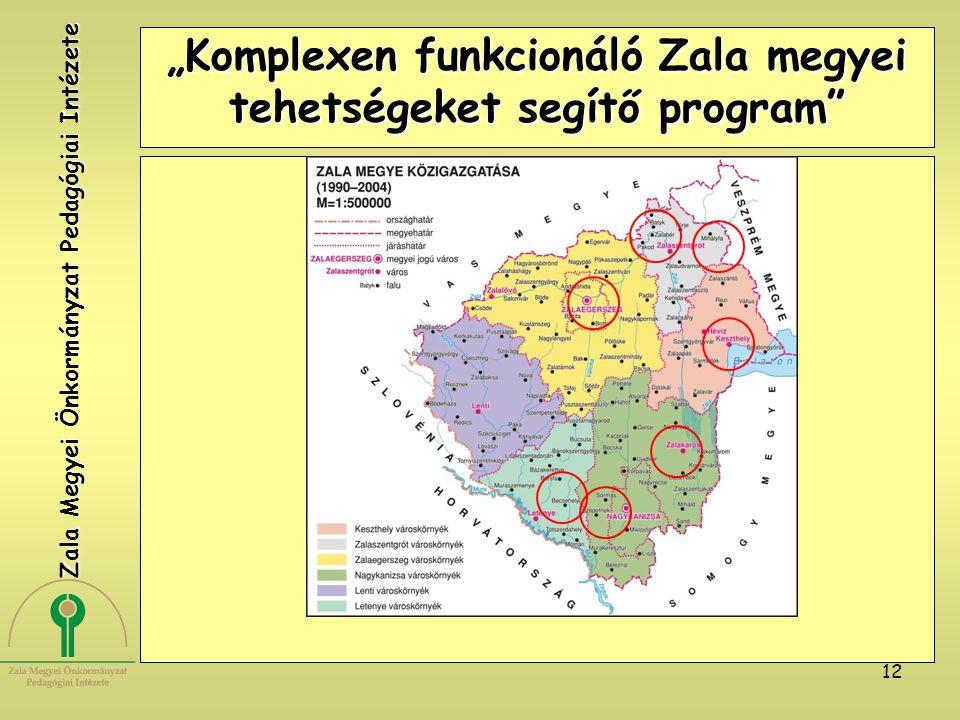 """12 """"Komplexen funkcionáló Zala megyei tehetségeket segítő program"""" Zala Megyei Önkormányzat Pedagógiai Intézete"""