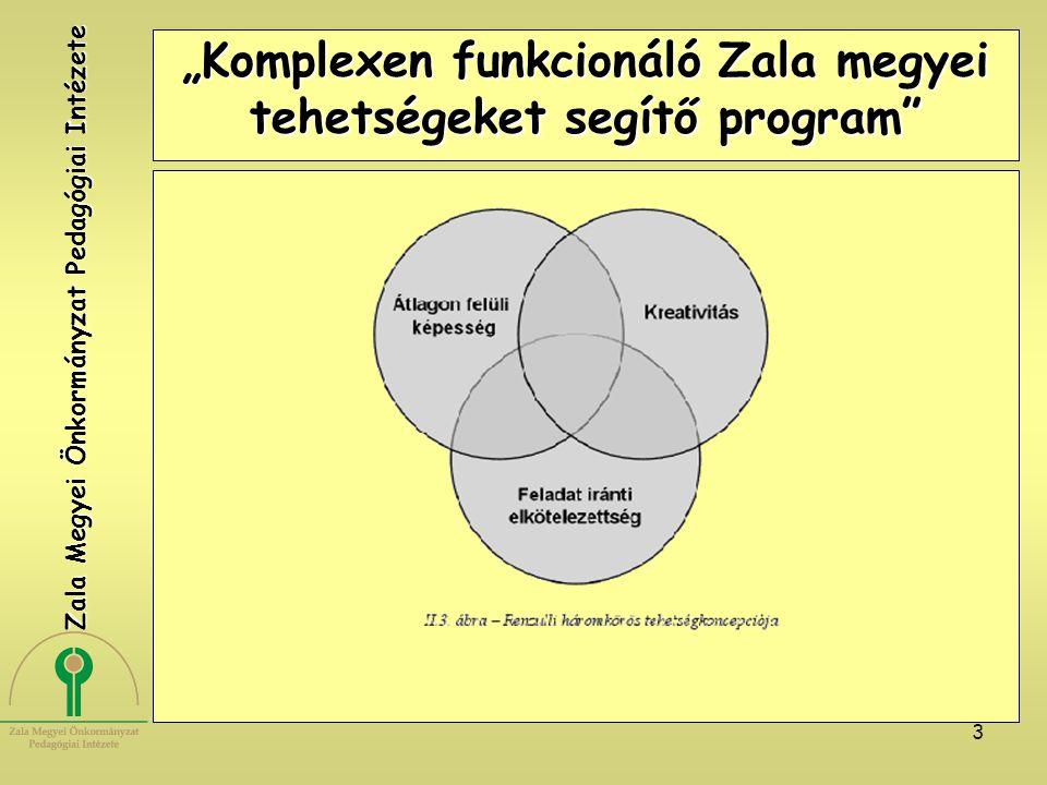 """3 """"Komplexen funkcionáló Zala megyei tehetségeket segítő program"""" Zala Megyei Önkormányzat Pedagógiai Intézete"""