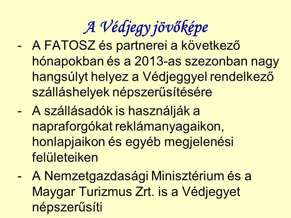 A Védjegy jövőképe -A FATOSZ és partnerei a következő hónapokban és a 2013-as szezonban nagy hangsúlyt helyez a Védjeggyel rendelkező szálláshelyek né