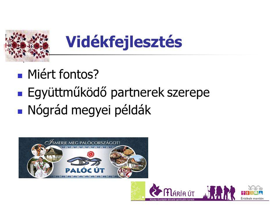 Vidékfejlesztés Miért fontos? Együttműködő partnerek szerepe Nógrád megyei példák