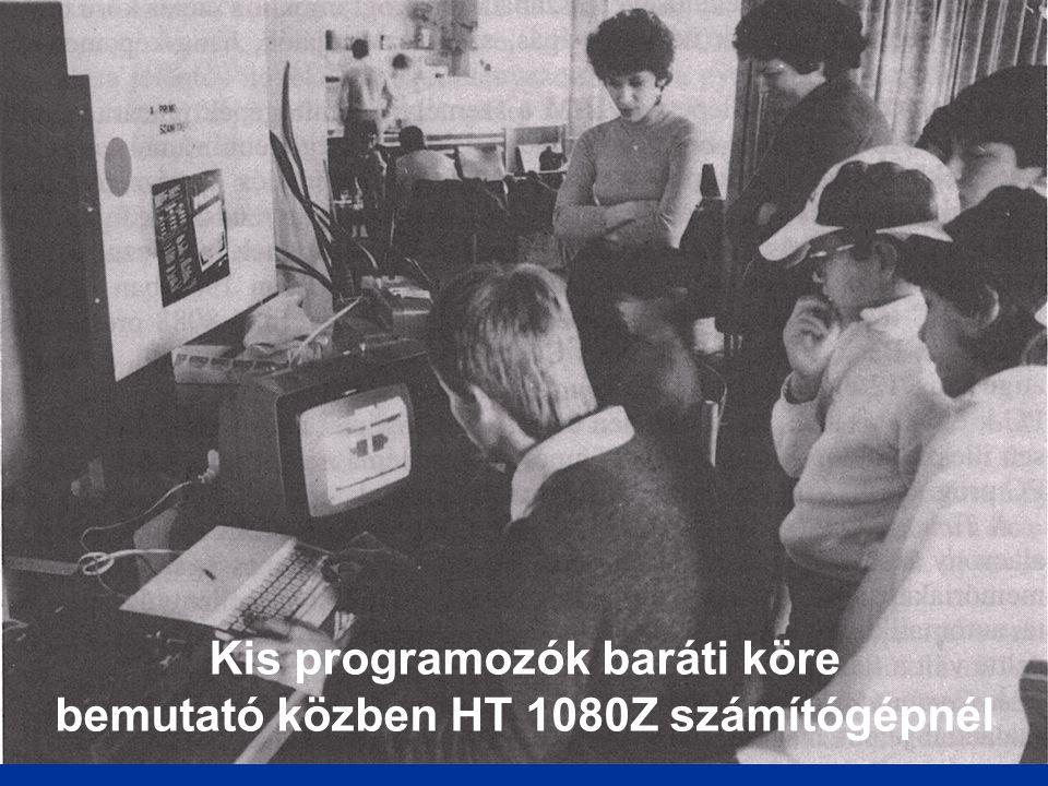 Kis programozók baráti köre bemutató közben HT 1080Z számítógépnél