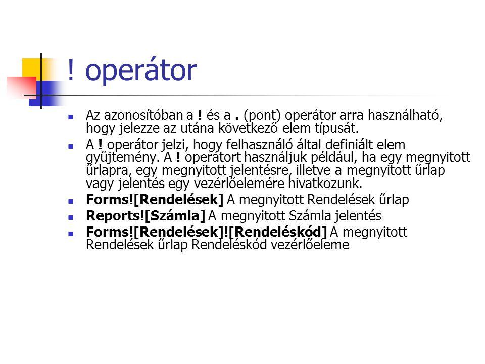 operátor A.