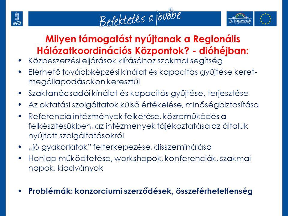 Közbeszerzési eljárások kiírásához szakmai segítség Elérhető továbbképzési kínálat és kapacitás gyűjtése keret- megállapodásokon keresztül Szaktanácsa